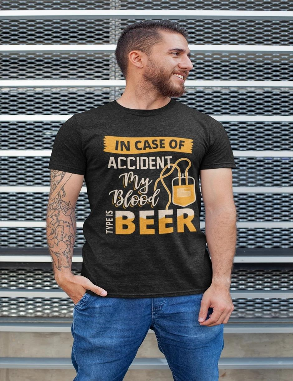 ACCIDENT BEER MENS TSHIRT