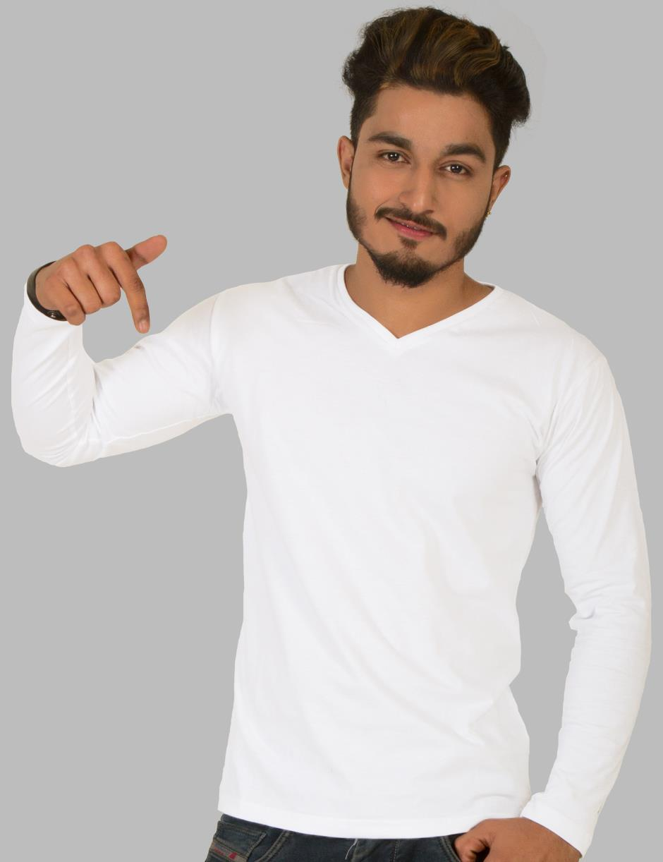 White V-Neck (Full)