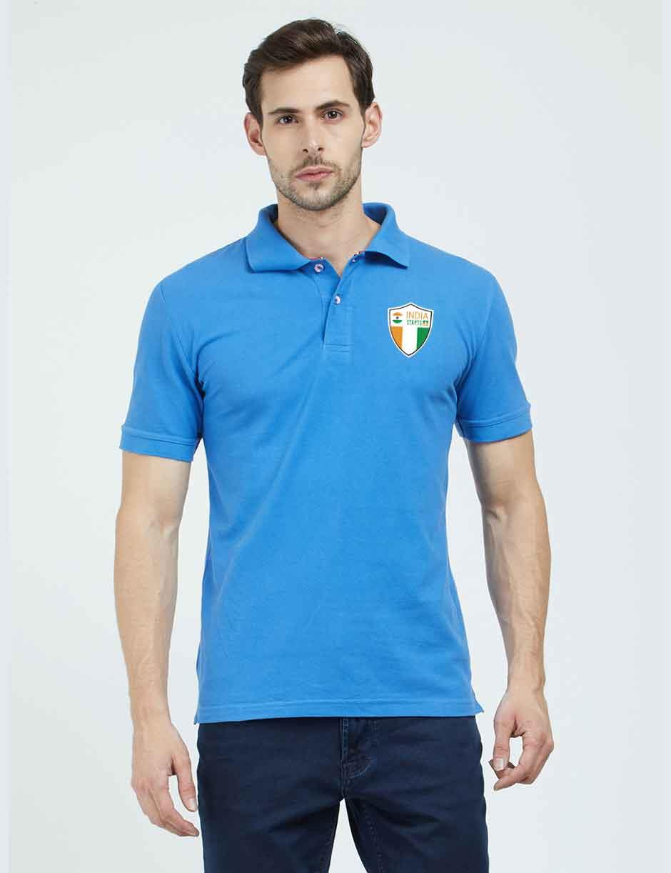 ISU Blue Plain Polo