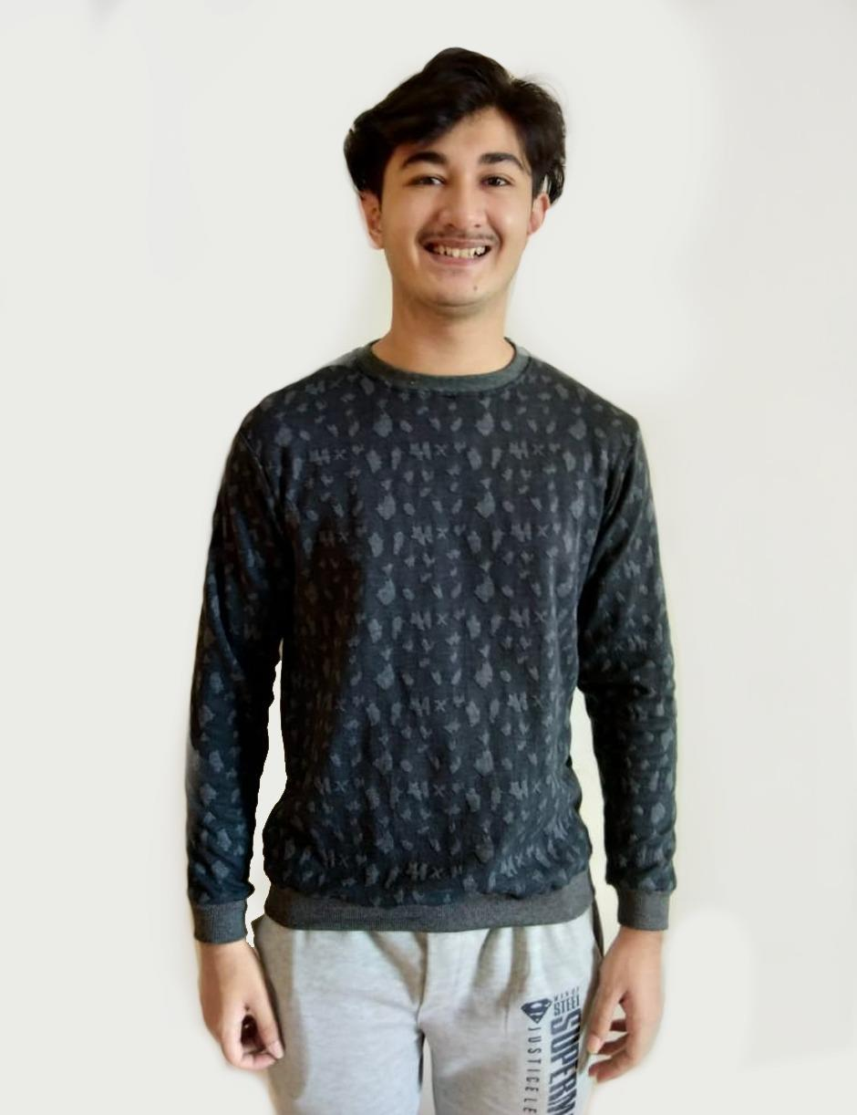 Black Charcoal Sweat Tshirt