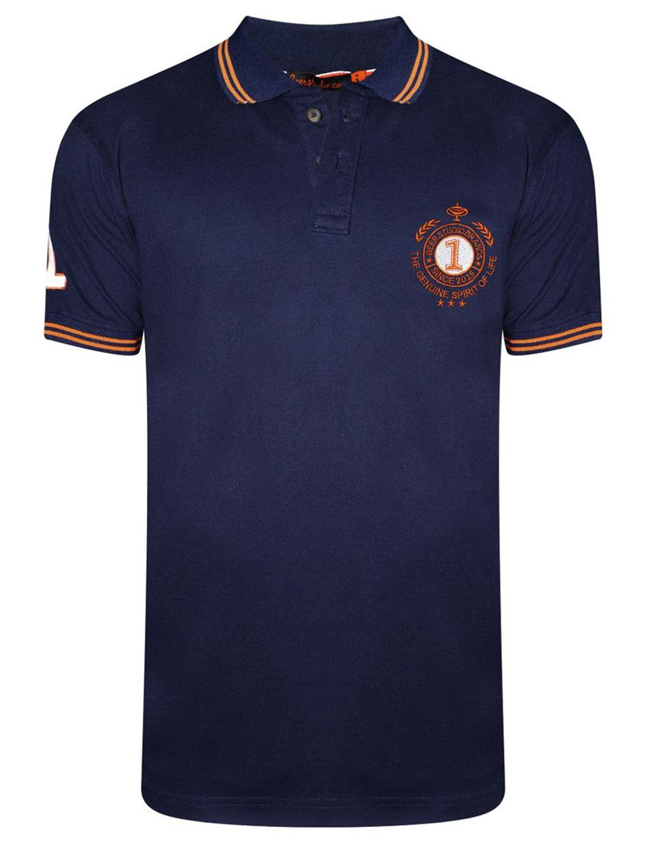 Navy Tipping Polo
