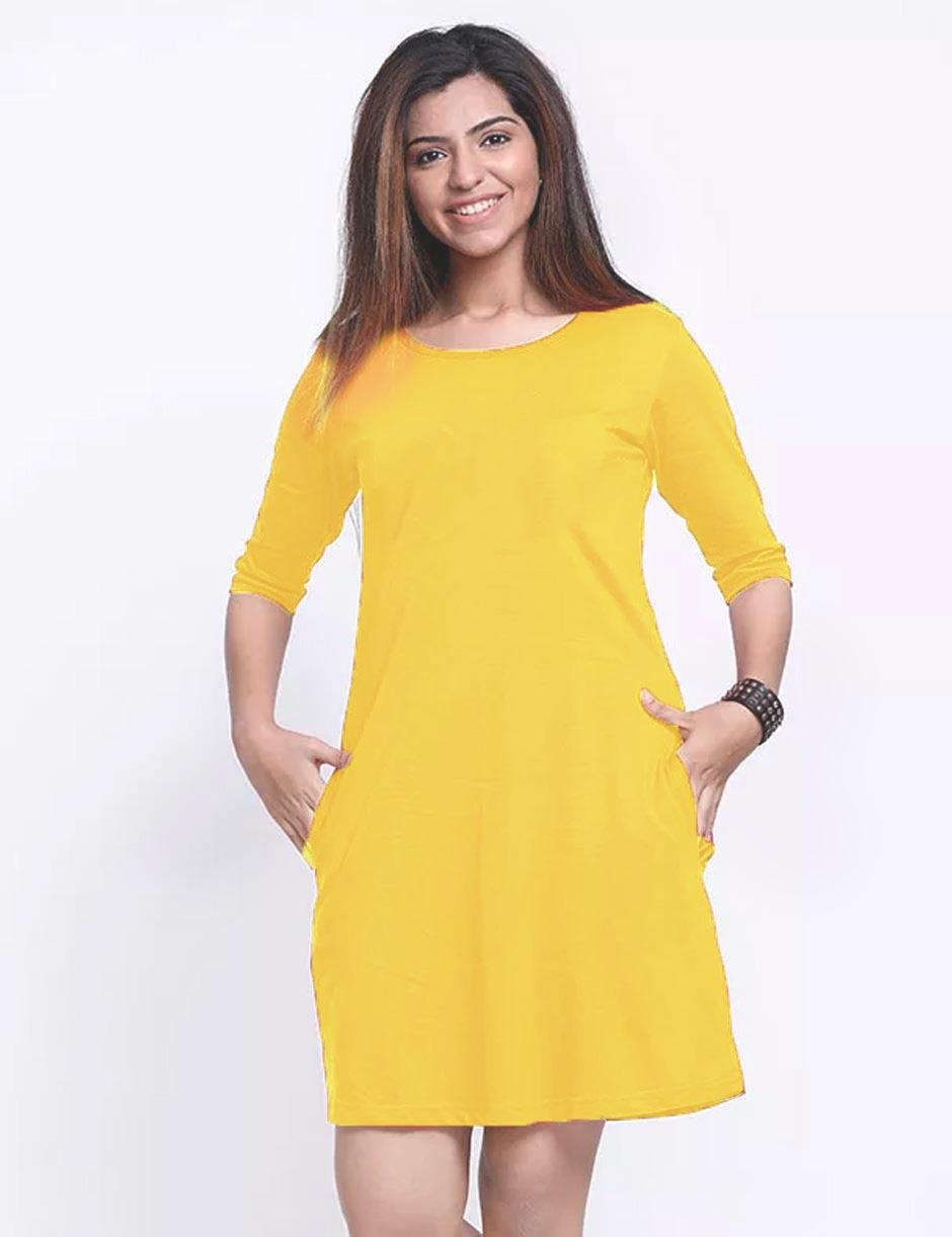 YELLOW DRESS long sleeves