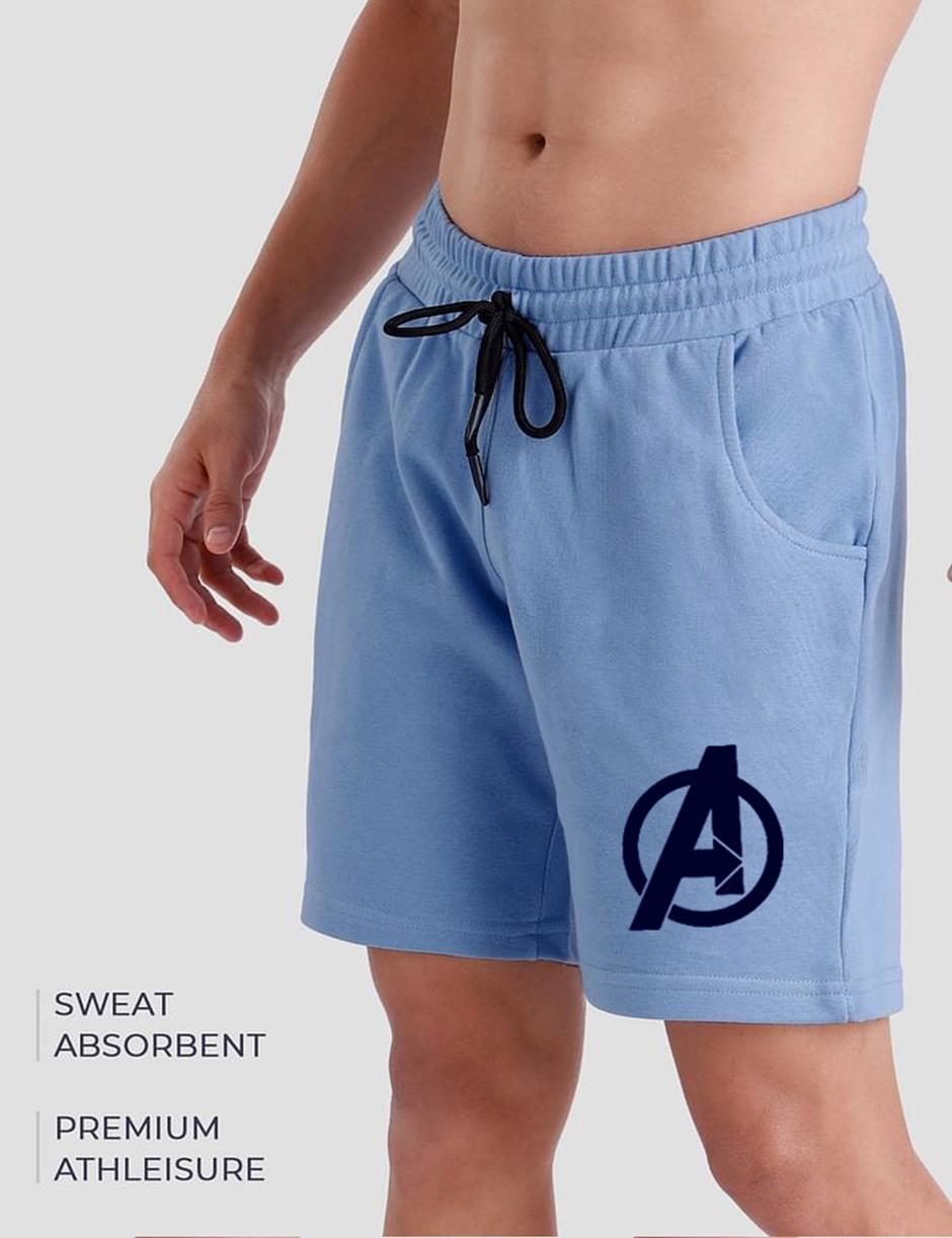 Avn Sky Blue Mens Shorts