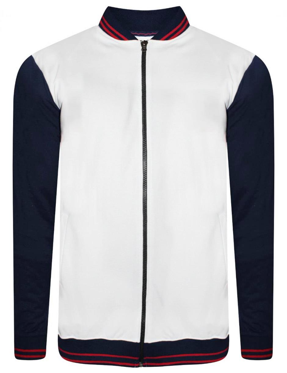 WHITE NAVY ZIPPER