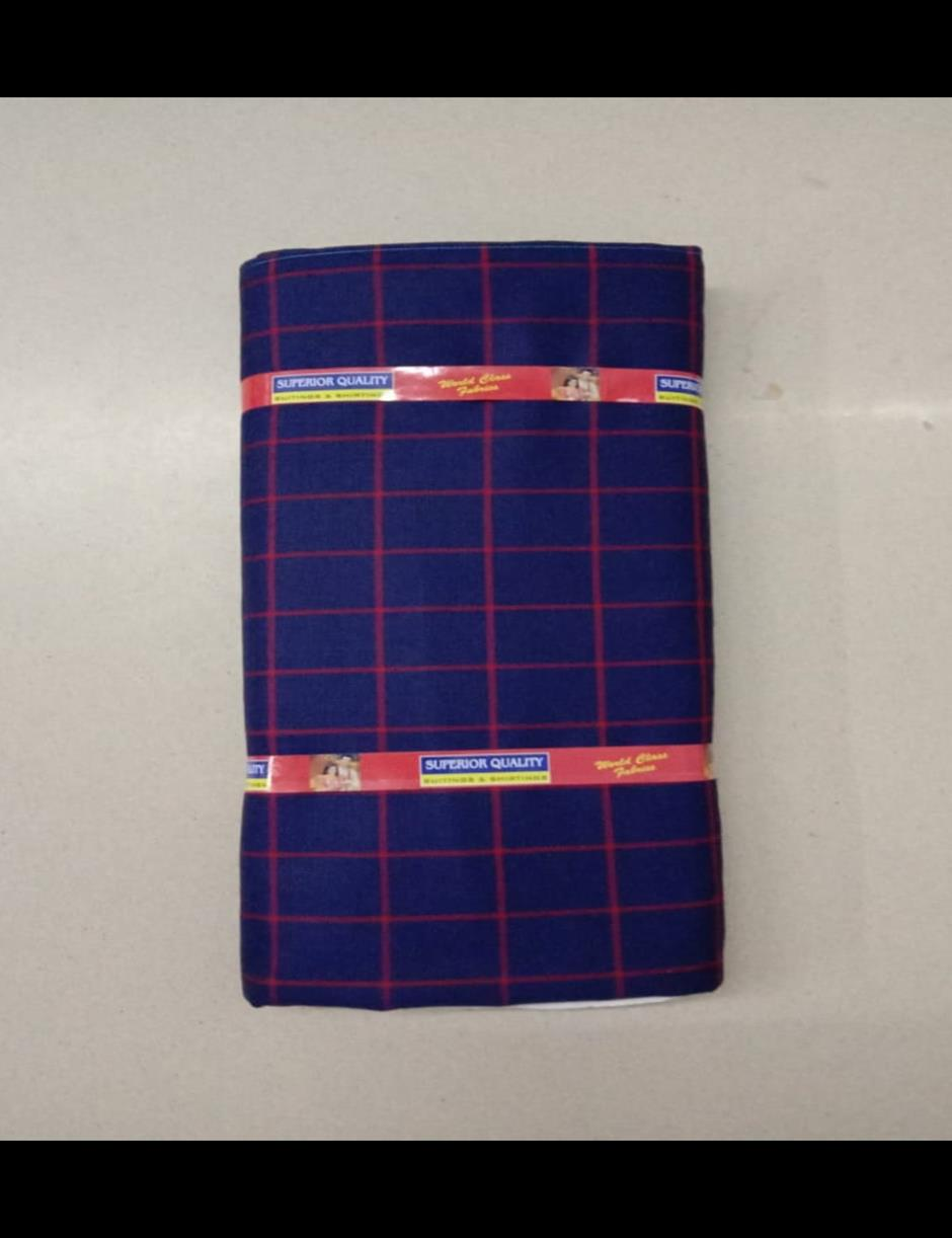 Navy Blue Red Checks Suitlength