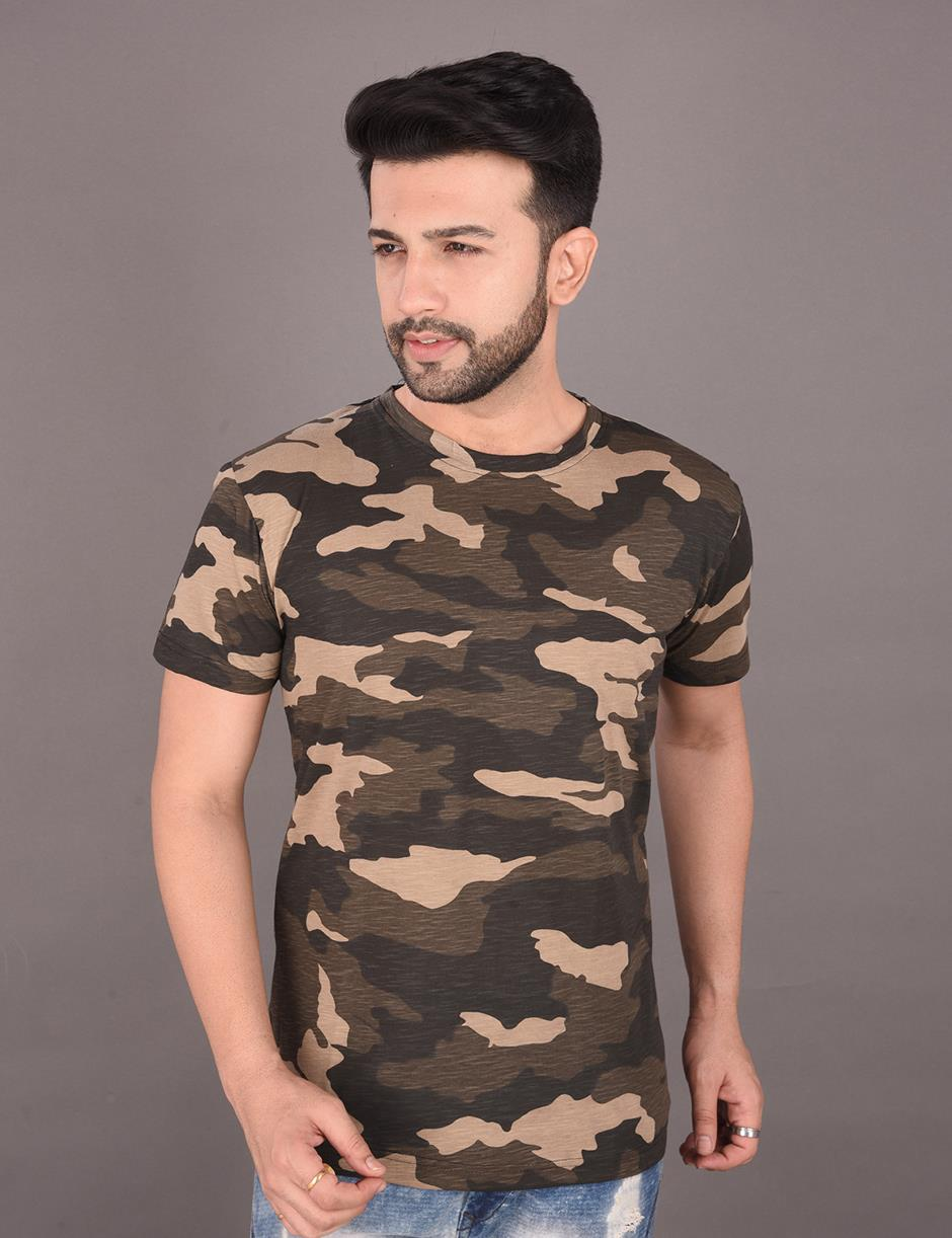 Military Print Mens Tshirt